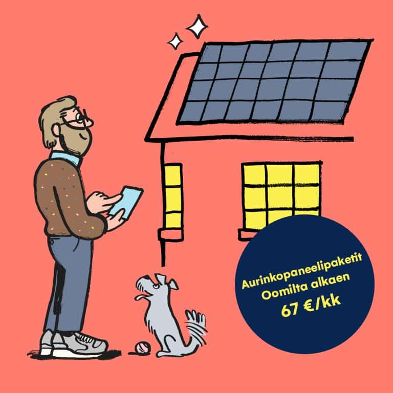 aurinkopaneelit saat oomilta avaimet käteen periaatteella