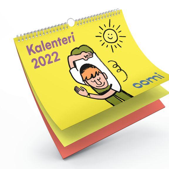 Hei asiakkaamme! 🤩 Tilaa tästä hauska seinäkalenteri vuodelle 2022: https://oomi.fi/kalenteri-2022/